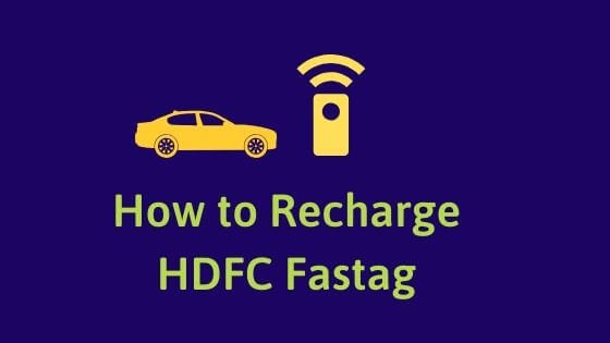 HDFC FASTag recharge