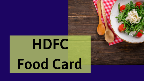 HDFC Food Card Balance Check