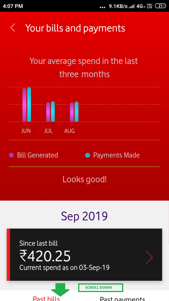 Download Voda Bill- Graph Scroll